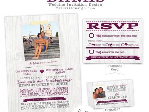 WEDDING INVITATIONS + FAVOR