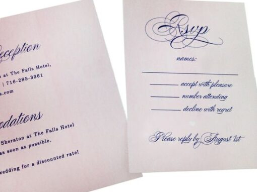 DIY Wedding Invitations   Perforated, Trifold, Watercolor