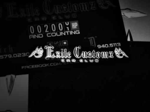 Exile Customz | Skull, Spot UV, Business Cards