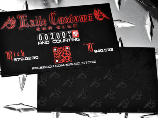 Exile Customz   Skull, Spot UV, Business Cards