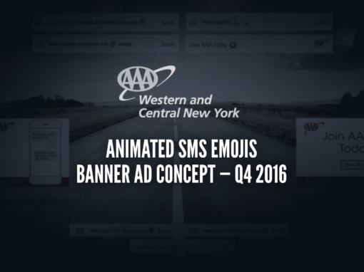 AAA WCNY | MEMBERSHIP — ANIMATED SMS EMOJIS BANNER AD CONCEPT — Q4 2016